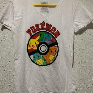 Pikachu,Charmander, Squirtle,Bulbasaur Shirt